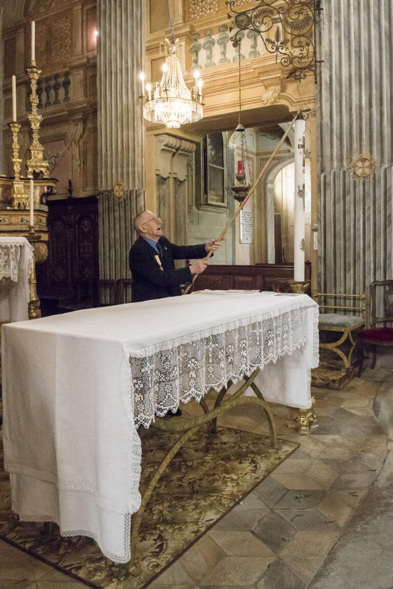 Mario Nervo si è preso cura come sacrestano della chiesa parrocchiale di Sommariva Perno, nel Roero, per 55 anni.