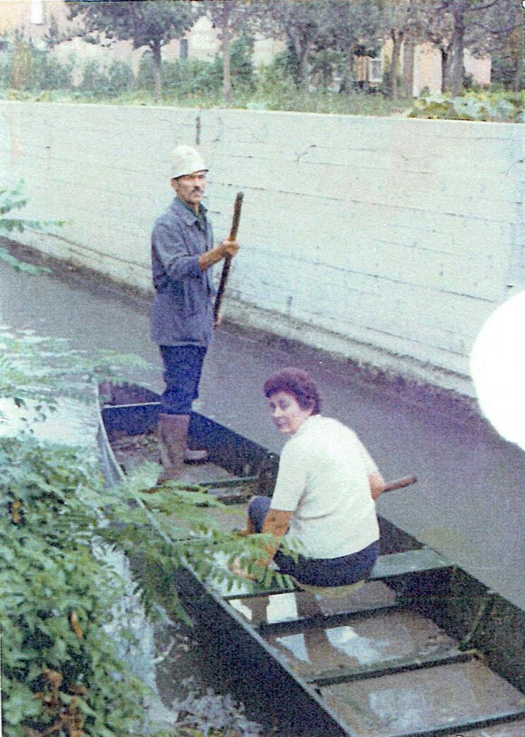 La gara a cronometro in coppia sulla bealera di Cornale negli anni '70.
