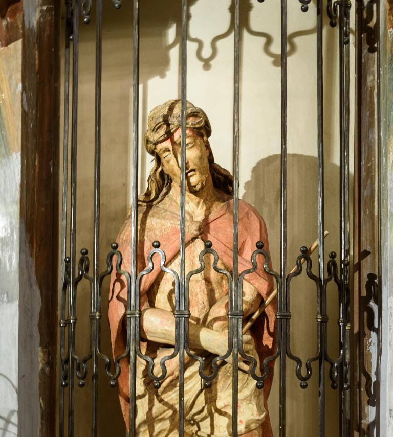 L'Ecce Homo del 1605 portato in processione dai Battuti Bianchi di Canale.